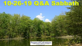 10-26-19 Sermon (Questions & Answers)