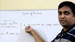 const keyword   constant pointer   types of pointer   Programming in C