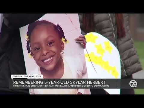 Parents of 5-year-old Skylar Herbert share her fight against virus