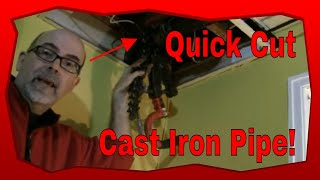 How To Cut A Cast Iron Drain Line Pipe, Plumbing Tips and Tricks