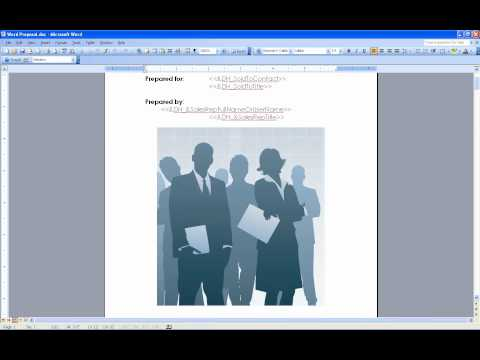 QuoteWerks Proposals - Microsoft Word Merging