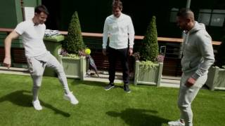 Top players show off their tennis ball skills