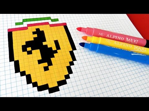 pixel art ferrari