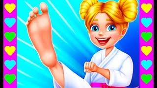 КАРАТИСТКА против ХУЛИГАНА! СЕРИЯ 2! Как получить черный пояс. Мультфильм для девочек.