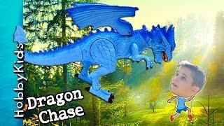 Dragon Toy! Smoke ICE Breathing Monster Flying Adventure + Animal Planet Toy HobbyKidsVids