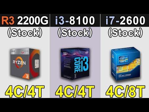 R3 2200G Vs. i3-8100 Vs. i7-2600 | RTX 2060 | New Games Benchmarks