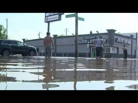 Businesses along Southfield Freeway flooded