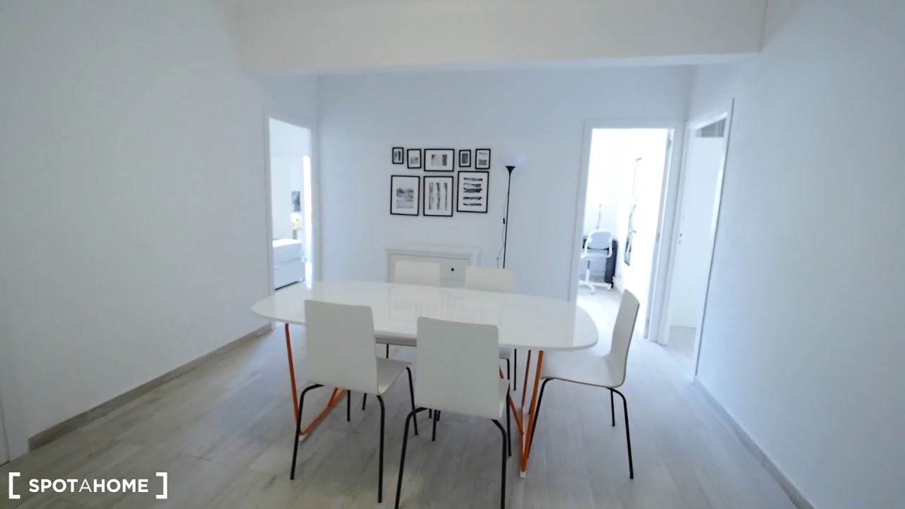 Single Bed in Furnished rooms for rent in modern 7-bedroom apartment, Horta-Guinardó