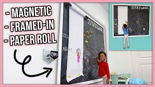 DIY Magnetic Chalkboard For Kids Playroom!