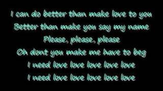 Robin Thicke - I Need Love lyrics