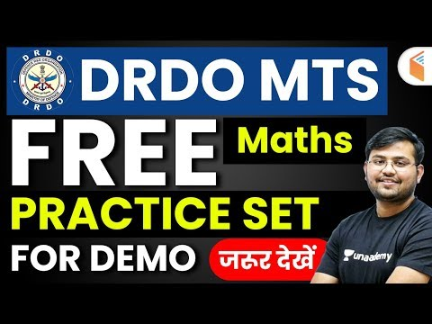 DRDO MTS 2020 | Maths By Sahil Sir | Free Practice Set for Demo