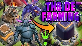 HOW TO TH8 DARK ELIXIR FARM - Three TH8 DE Farming Strategies - Clash of Clans - Easy Farming