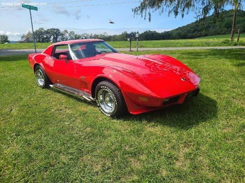 1976 Red Corvette Stingray L82 Black Interior For Sale Video