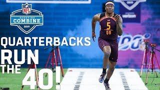 Quarterbacks Run the 40-Yard Dash | 2019 NFL Scouting Combine Highlights