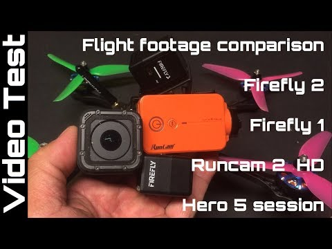 Hawkeye Firefly 2 vs Firefly 1, Runcam 2 HD & Hero 5 Session