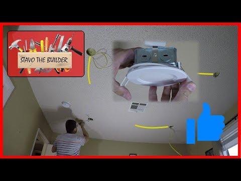 Como Instalar luces de techo Empotrables -  LED spotlight wiring