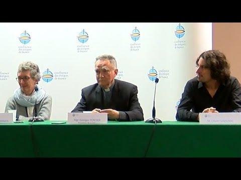 Conférence de presse des victimes d'abus et des évêques de France