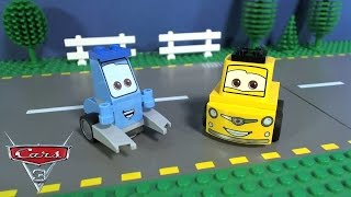 Cars 3 Lego Guido and Luigi's Pit Stop: Speed Build and Stop Motion