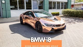 GVE Customs: BMW i8 | Rose Gold Chrome Wrap