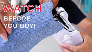 The Truth About Handheld Sewing Machines and How To Use Them!