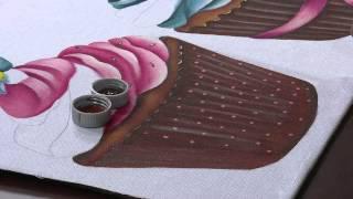 Pintando Cupcakes maravilhosos