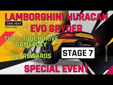 무대 7 Lamborghini Huracan Evo Spyder 특별 이벤트