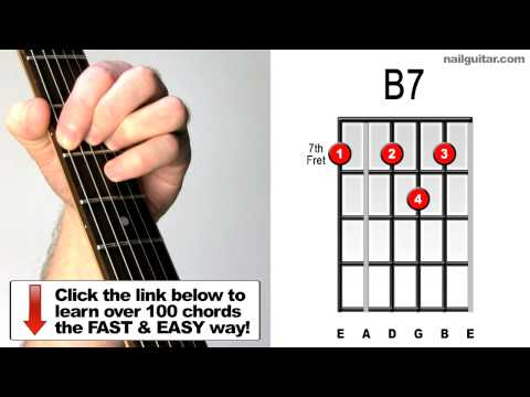 How to Play B7 - Guitar Chord Lesson - For Blues Songs (Stevie Ray Vaughan, BB King, Eric Clapton)