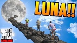 CAMINO A LA LUNA!! - Gameplay GTA 5 Online Funny Moments (Carrera GTA V PS4)