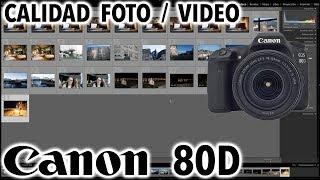 Canon EOS 80D | Calidad de fotos y videos