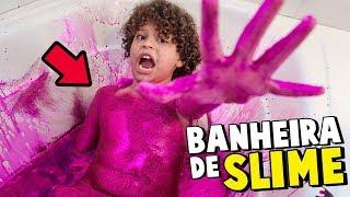 SUPER BANHEIRA DE SLIME ROSA COM GLITTER! - Isaac do VINE