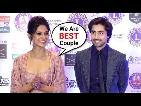 Bepanah Couple Jennifer Winget And Harshad Chopra Interview At LIONS Gold Awards 2019