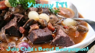 1963 Julia Childs TV Boeuf Bourguignon | Yummy IT Food