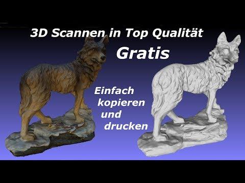 3D Scannen und drucken gratis in Top Qualität