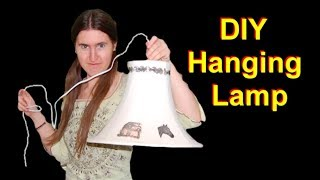 How to Turn a Lampshade Into a Hanging Lamp