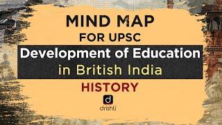 MindMaps For UPSC - Development Of Education In British India (History)