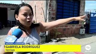 A disparos, policía sacrificó a un toro en Aguazul Casanare.