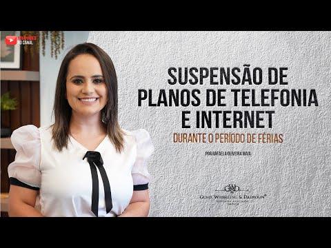 Férias: posso suspender os serviços de telefonia e internet?