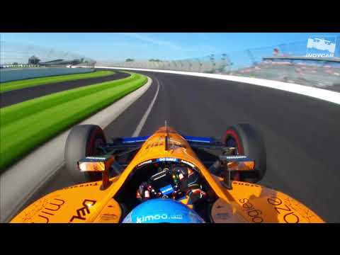 Fernando Alonso onboard during 2019 Indy 500 practice