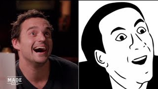 Jake Johnson Imitates Popular Internet Memes - Speakeasy