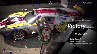 JOT381 GRAN TURISMO SPORT 170918 TOKYO EXPRESS FORD GTLM 1st to 1st FASTEST LAP 10 LAPS 767th WIN