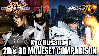 KOF 99 and KOF XIV: Kyo Kusanagi 2D and 3D moveset comparison