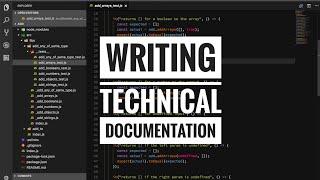 Writing technical documentation