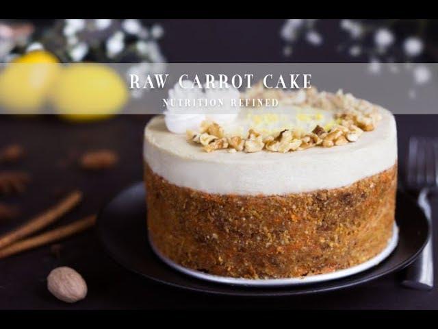 Raw Carrot Cake | Vegan, Paleo