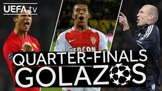 RONALDO, MBAPPÉ, ROBBEN: Great #UCL Quarter-finals GOALS!!