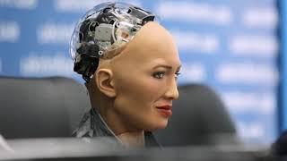 Робот София впервые приехала в Украину   Ранок з Україною