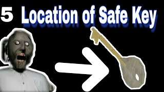 All Locations of Safe Key in Granny horror game V1.7|| Safe Key Location in Granny.