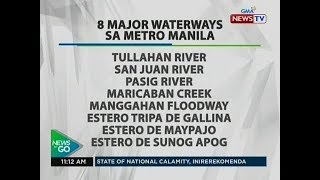 NTG: Quick Facts: 8 major waterways sa Metro Manila