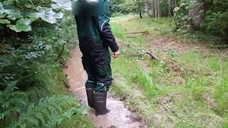 Auschecken spätester Verkauf gut aussehen Schuhe verkaufen Dunlop Purofort Thermo Gummistiefel in tiefem Schlammwasser ...