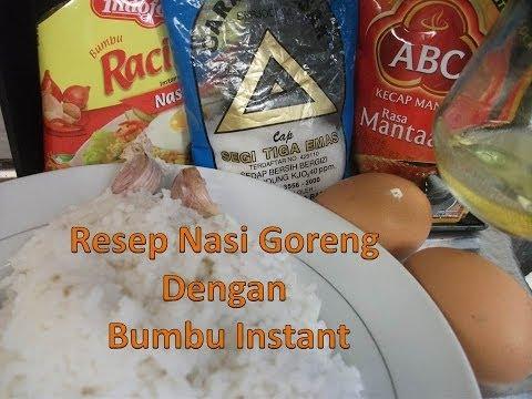 Video resep nasi goreng dengan bumbu instan