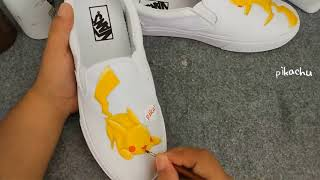 Pikachu Anime Shoes Pokemon Hand Painted Anime Shoes Custom Anime Shoes